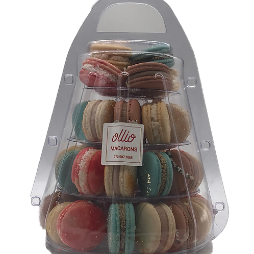 Macaron Tower with 4 Tiers in a Carry Case