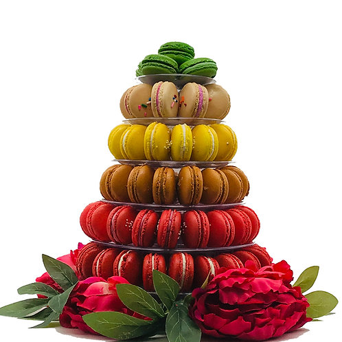 Macaron Tower with 6-Tiers