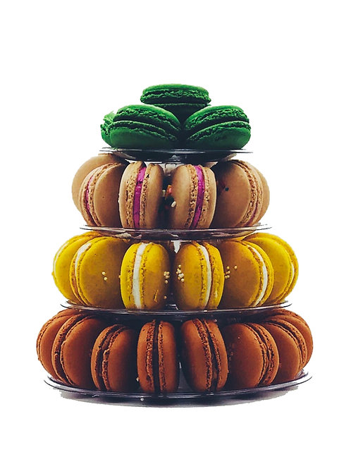 Macaron Tower with 4 Tiers