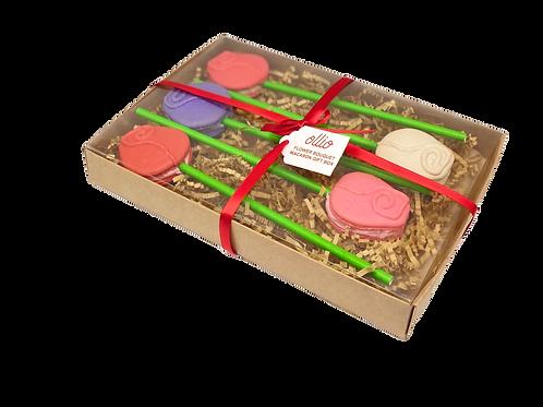 Flower Bouquet Macaron Gift Box