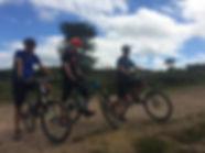 Mountain bikers on Woodbury Common