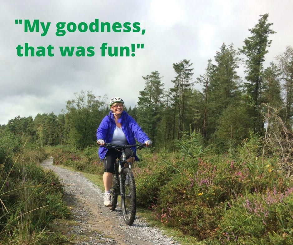 Back on a bike at Haldon Forest Park