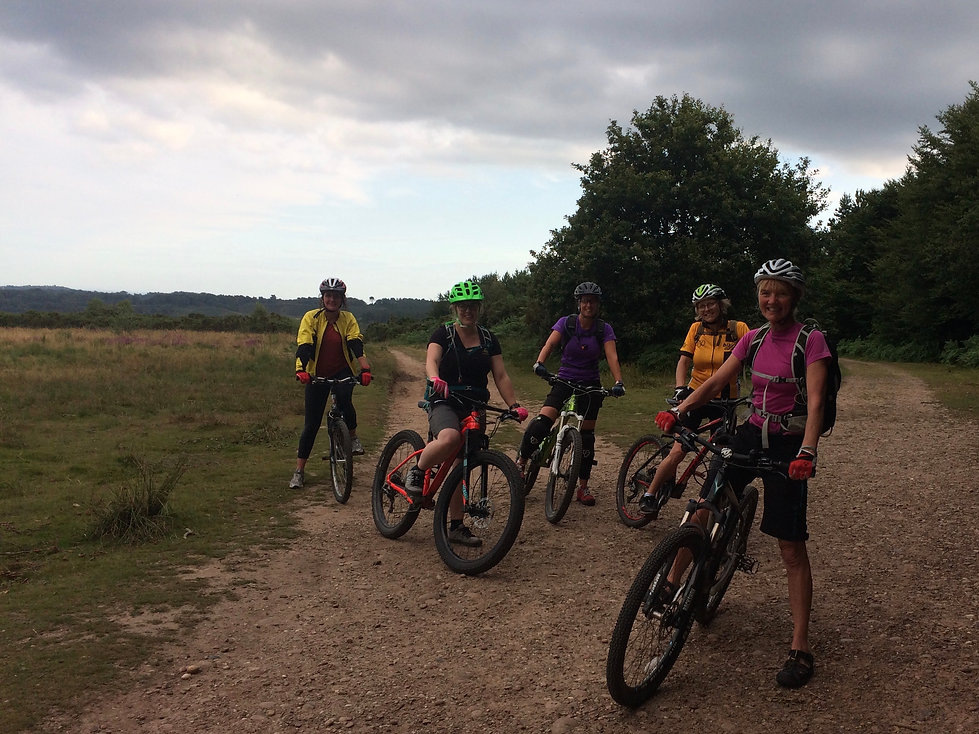 guided mountain bike ride for women, Devon