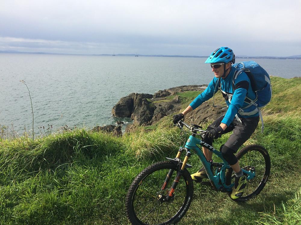 Mountain biking on the Fife Coast Path