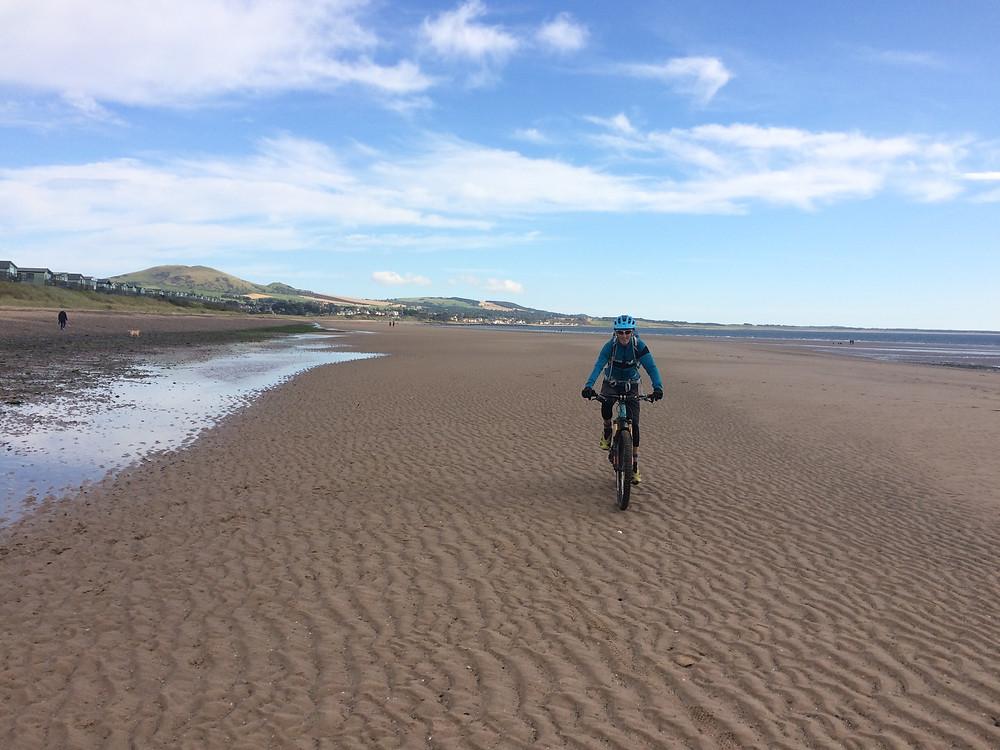 Cycling on the beach, Fife