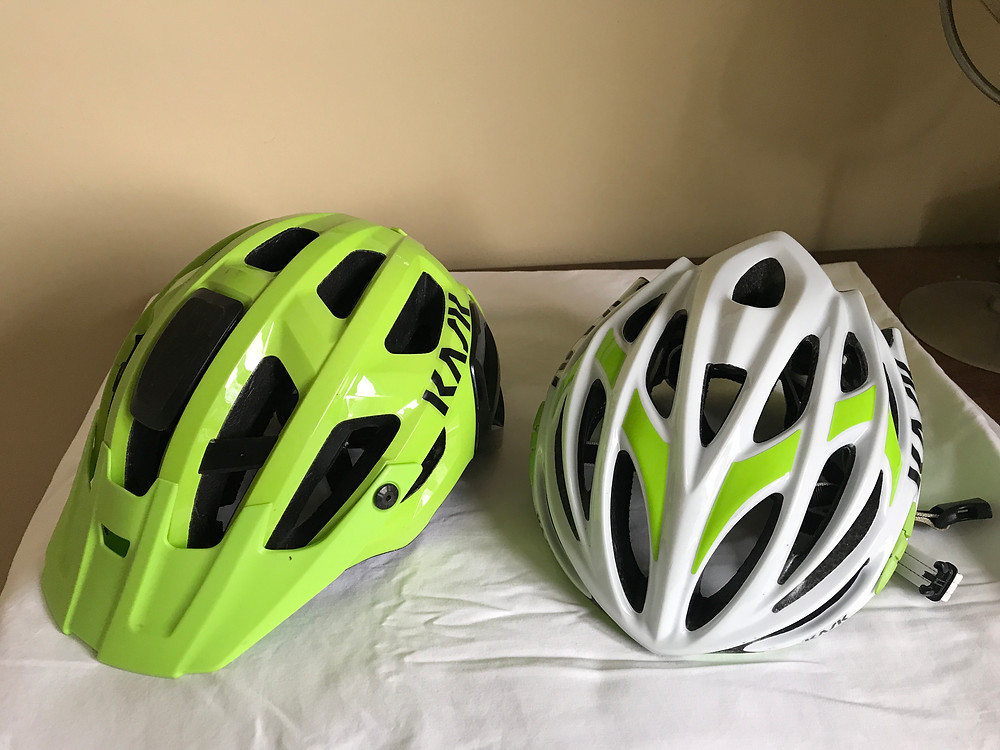 Either of these helmets are fine for a mountain bike beginner