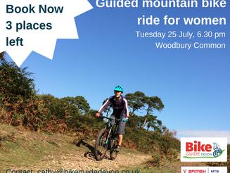 Women's guided mountain bike ride