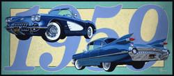 1959 corvette and cadillac
