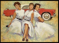 1955 Thunderbird Girls