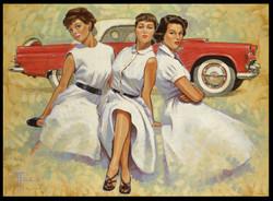 1955 Thunderbird Girls