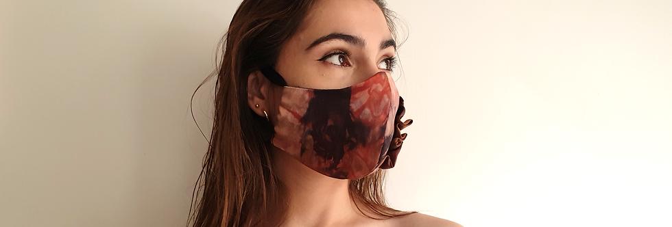 Masque nude en soie résille