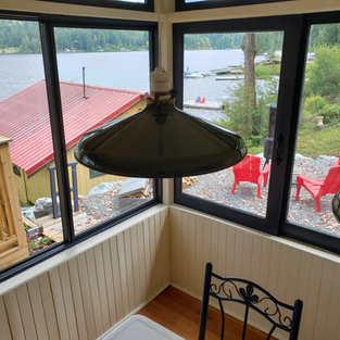Welcome lake breeze side windows open