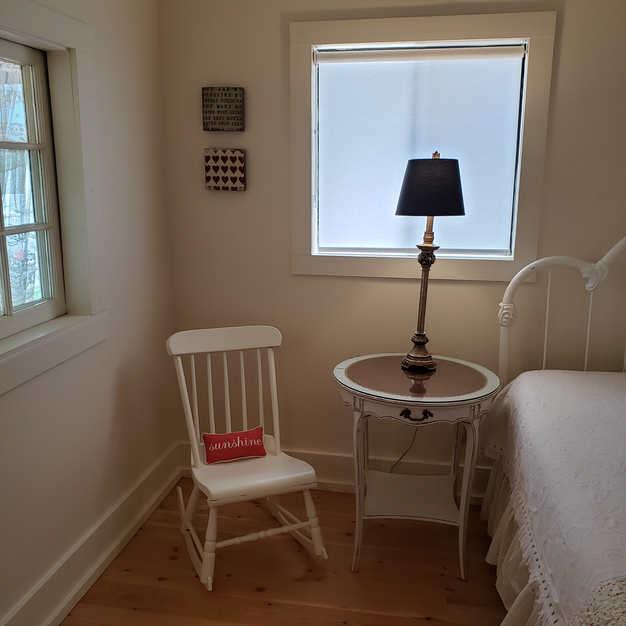 Bedroom quiet sitting area