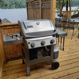 Weber BBQ with lakeview