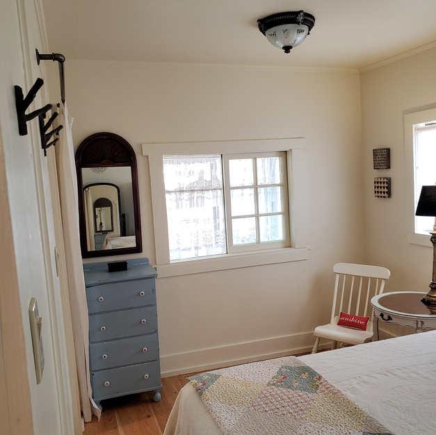Bedroom (ample hooks and storage)
