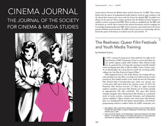 NEW ESSAY IN CINEMA JOURNAL!