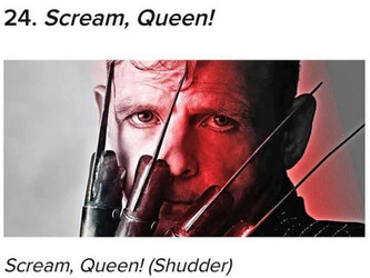 "SCREAM, QUEEN NAMED ""TOP 25 OF 2020"""