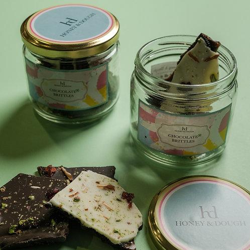 Chocolate Brittles in a Jar