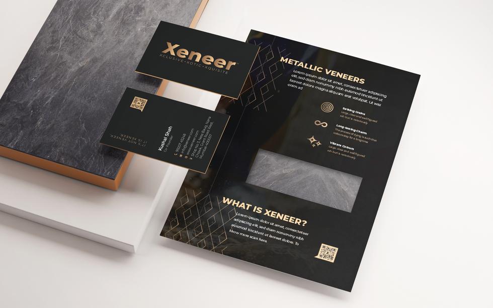 Xeneer Brochure branding