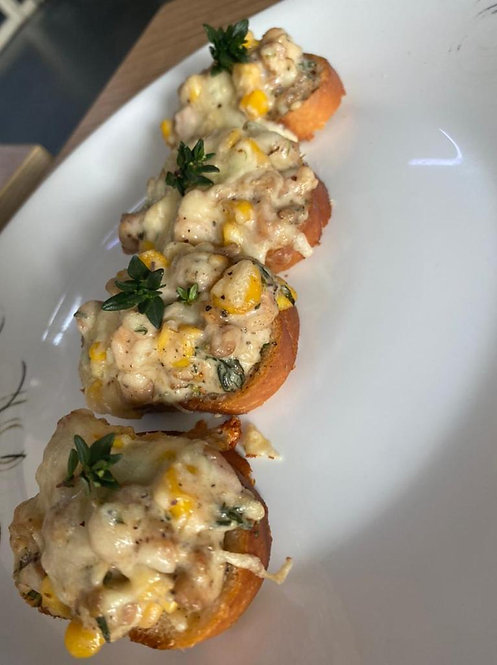 Chicken & Corn Bruschetta