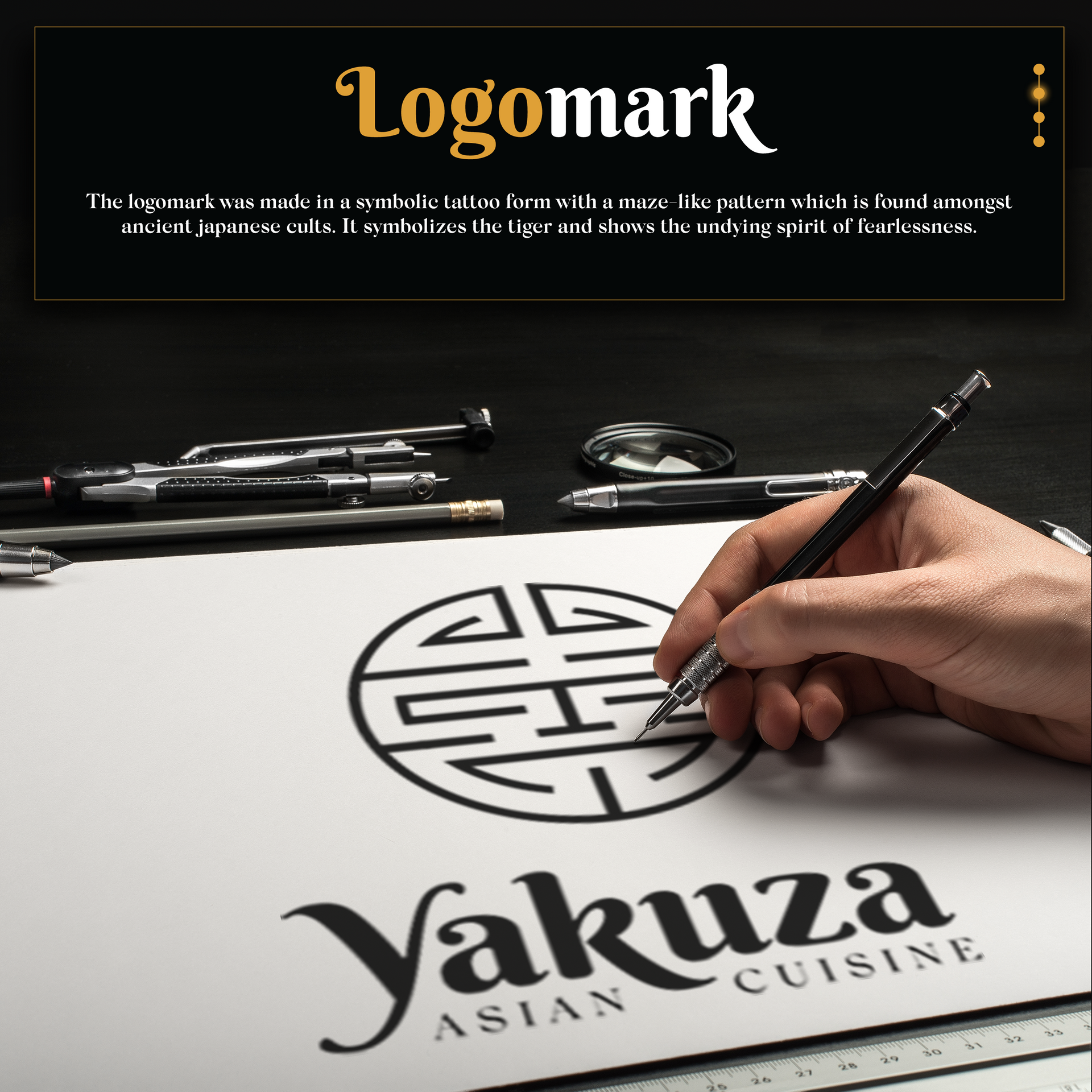 Asian logo mark - Yakuza Case Study