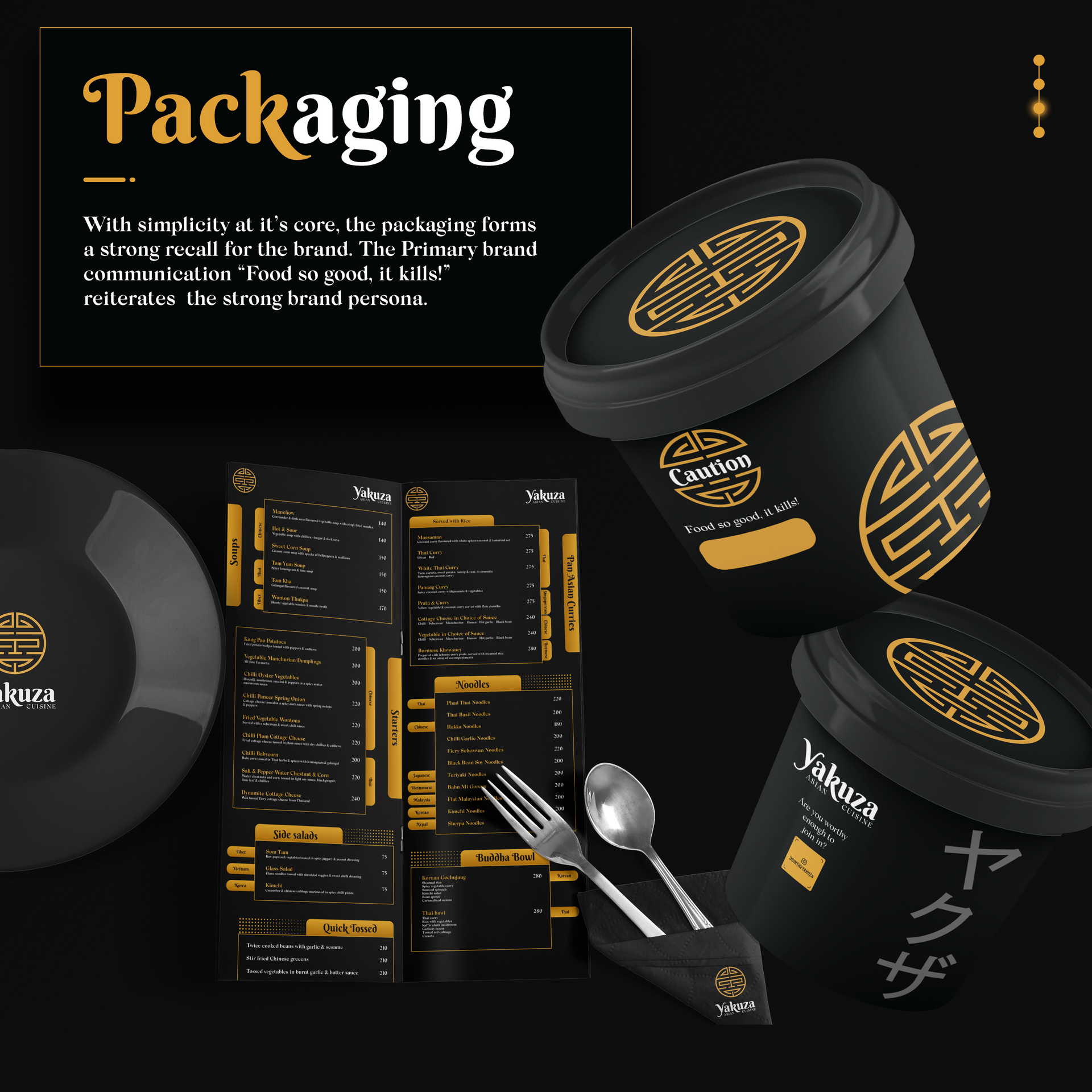 Aisan food box packaging - Yakuza Case Study