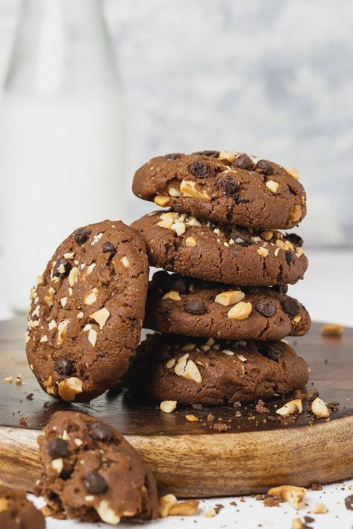 Chocolate Caramel Cashewnut Cookies