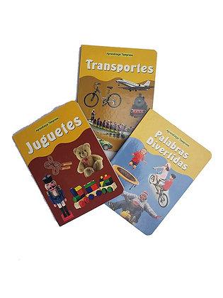 Pack juguetes, transportes, palabras divertidas