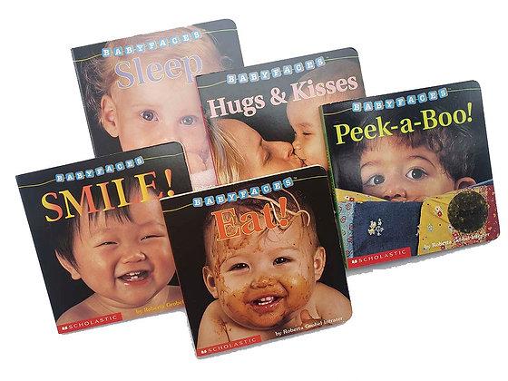 Pack Sleep, Hugs & Kisses, Peek-a-Boo!, Smile, Eat!