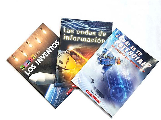 Pack 3 Libros STEAM Scholastic