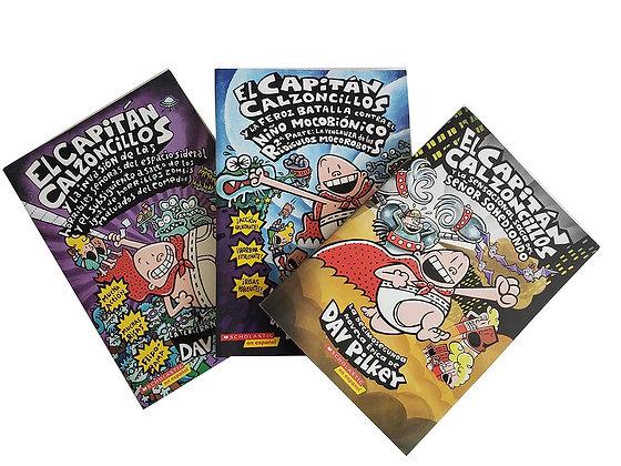 Pack 3 libros El Capitán Calzoncillos