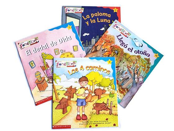 Pack 4 libros Cuentos Fonéticos