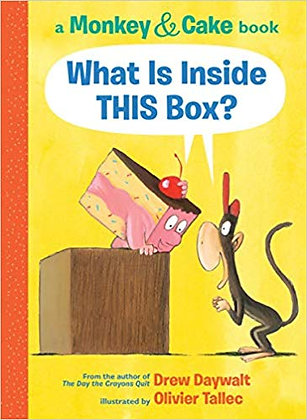 A monkey and cake book: What Is Inside this box?
