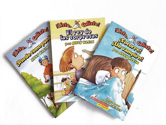 Pack 3 libros ¡Listo, Calixto!