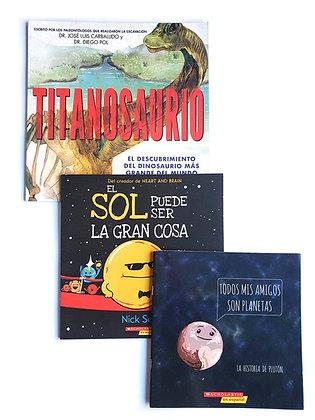Pack 3 libros Ciencia Scholastic