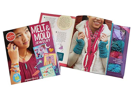 Pack manualidades Melt & Mold Jewelry y Finger Knitting