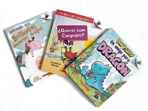 Pack 3 libros Scholastic Acorn