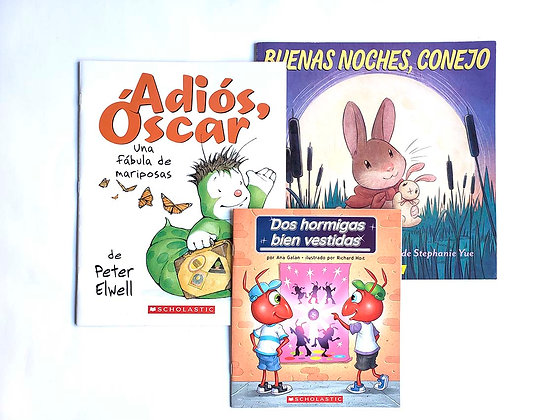 Pack 3 libros Ilustrados Scholastic