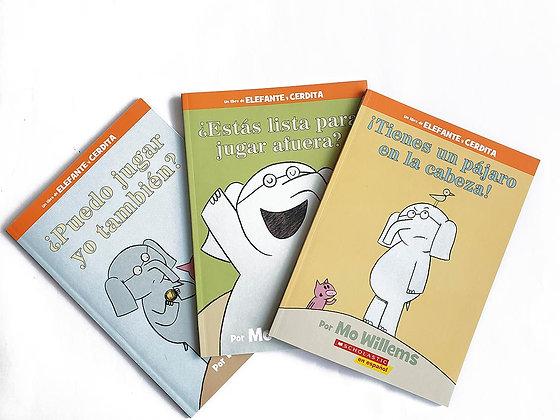 Pack 3 libros Un libro de Elefante y Cerdita