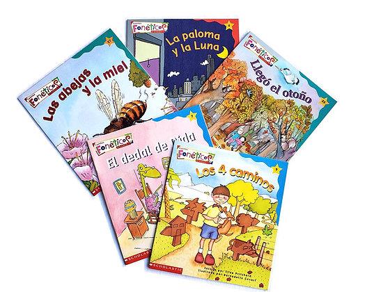 Pack 5 libros Cuentos Fonéticos