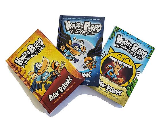 Pack 3 libros Hombre Perro