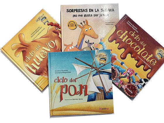 Pack 4 libros Cometa Roja