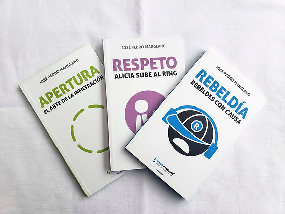 Pack 3 libros José Pedro Manglano: Apertura, Respeto, Rebeldía