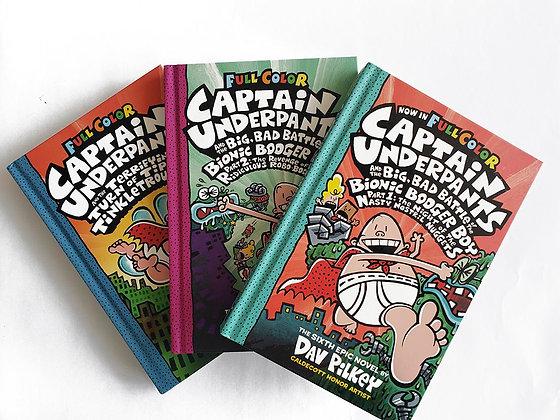 Pack 3 libros Captain Underpants Tapa Dura
