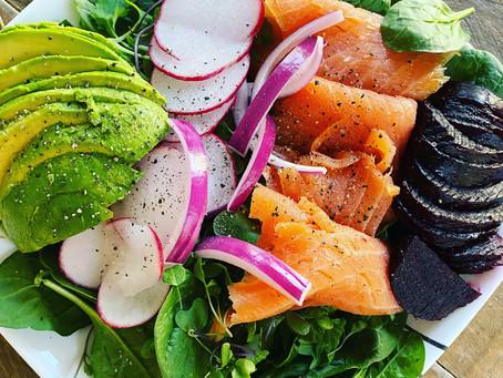 Simple Smoked Salmon Salad