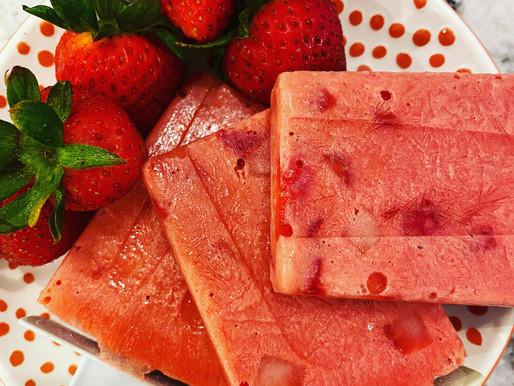 Strawberry Lemon Paleo Pops