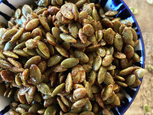 Paleo Pumpkin Spiced Pumpkin Seeds