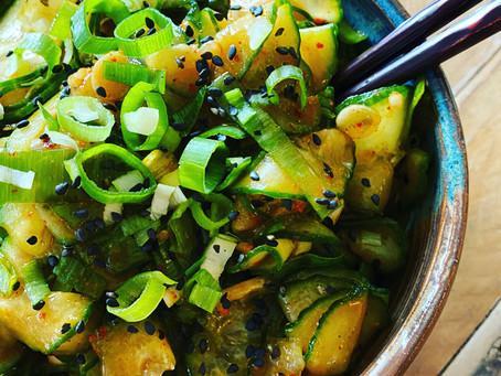 Quick Korean Cucumber Kimchi