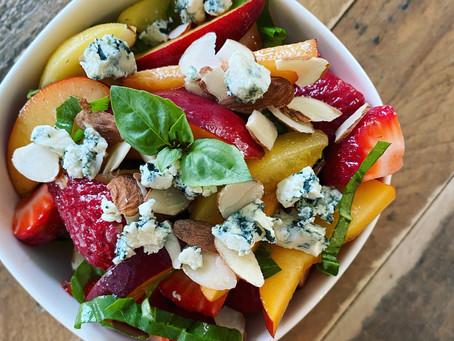 Basil Nectarine Salad