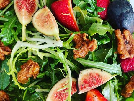 Arugula and Summer Fruit Salad with Fresh Citrus Vinaigrette